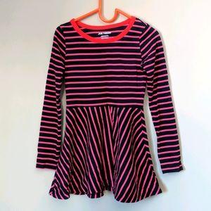 Black and Pink Stripe Skater Dress 6